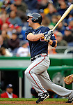 13 April 2008: Atlanta Braves' outfielder Jeff Francoeur in action against the Washington Nationals at Nationals Park, in Washington, DC. The Nationals ended their 9-game losing streak by defeating the Braves 5-4 in the last game of their 3-game series...Mandatory Photo Credit: Ed Wolfstein Photo