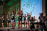 """Bobcat Student Orientation leaders perform a choreographed routine to """"Uptown Funk"""" on Thursday, June 4, 2015.  Photo by Ohio University  /  Rob Hardin"""