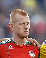 Toronto FC defender Richard Eckersley (27). In a Major League Soccer (MLS) match, Toronto FC defeated New England Revolution, 1-0, at Gillette Stadium on July 14, 2012.