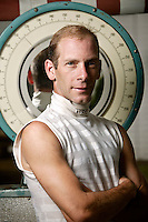 Jockey Michael Luzzi poses for the photographer at the race track in Saratoga Springs, NY, USA, 14 August 2006.
