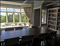 BNPS.co.uk (01202 558833)<br /> Pic: SteppingStones/BNPS<br /> <br /> The library area after restoration.<br /> <br /> Much like his famous fictional detective, Sir Arthur Conan Doyle's former home has been brought back from the dead.<br /> <br /> Undershaw, the home the author helped design, fell into disrepair after the hotel which ran there for 80 years closed in 2004 but in a resurrection worthy of Sherlock Holmes himself the derelict landmark has been restored to its former glory.<br /> <br /> The building is now part of Stepping Stones, a special needs school in Hindhead, Surrey, and has been nominated for a heritage award.