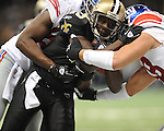 New Orleans Saints Devery Henderson (19) vs. New York Giants at the Superdome in New Orleans, La. on Monday, November 28, 2011. New Orleans won 49-24.
