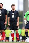 15 August 2014: Gardner-Webb's Jake Kennedy. The University of North Carolina Tar Heels hosted the Gardner-Webb University Bulldogs at Fetzer Field in Chapel Hill, NC in a 2014 NCAA Division I Men's Soccer preseason match. North Carolina won the exhibition 7-0.