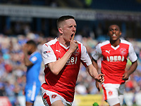Fleetwood Town's Ashley Hunter celebrates scoring his sides first goal <br /> <br /> Photographer Rob Newell/CameraSport<br /> <br /> The EFL Sky Bet League One - Gillingham v Fleetwood Town - Saturday 22nd April 2017 - MEMS Priestfield Stadium - Gillingham<br /> <br /> World Copyright &not;&copy; 2017 CameraSport. All rights reserved. 43 Linden Ave. Countesthorpe. Leicester. England. LE8 5PG - Tel: +44 (0) 116 277 4147 - admin@camerasport.com - www.camerasport.com