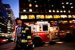 New York FDNY firefighters at midtown Manhattan