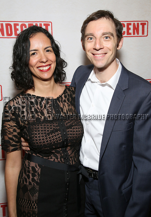 Amaya Rivera and Max Gordon Moore attend the Broadway Opening Night After Party for  'Indecent' at Bryant Park Grill on April 18, 2017 in New York City.