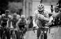 2013 Giro d'Italia.stage 7: Marina di San Salvo - Pescara .177 km..Laurent Pichon (FRA) still tightly held together by bandages after his severe crash in stage 1