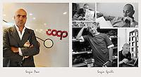 IL VERO E IL FALSO:.Ritratti di veri soci Coop e degli attori che interpretano la sit-Com Casa Coop.Sergio Sgrilli