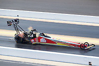Sep 17, 2016; Concord, NC, USA; NHRA top fuel driver Doug Kalitta during qualifying for the Carolina Nationals at zMax Dragway. Mandatory Credit: Mark J. Rebilas-USA TODAY Sports