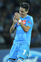NAPLES, Italy - September 18, 2013: Napoli beats Borussia Dortmund 2-1 during the Champions League match in San Paolo Stadium.
