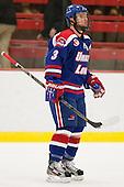 Chad Ruhwedel (UML - 3) - The visiting University of Massachusetts Lowell River Hawks defeated the Harvard University Crimson 5-0 on Monday, December 10, 2012, at Bright Hockey Center in Cambridge, Massachusetts.