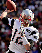 New England Patriots quarterback Tom Brady (12) is set to pass in the second quarter against the Washington Redskins at FedEx Field in Landover, Maryland on Sunday December 11, 2011.  The Patriots won the game 34 - 27..Credit: Ron Sachs / CNP