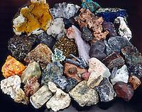 METAL ORES - Large Collection<br /> Primary Ores of Metals: Greenockite,Cassiterite, Orpiment, Borax, Bausite, Vanadinite, Scheelite, Zircon, Chromite, Strontianite, Nickeline, Germanite, Lepidolite, Sylvite, Chalcopyrite, Bismuth Molybdenite, Beryl, Silver, Descloizite, Sphalerite, Betafite, Stibnite etc.