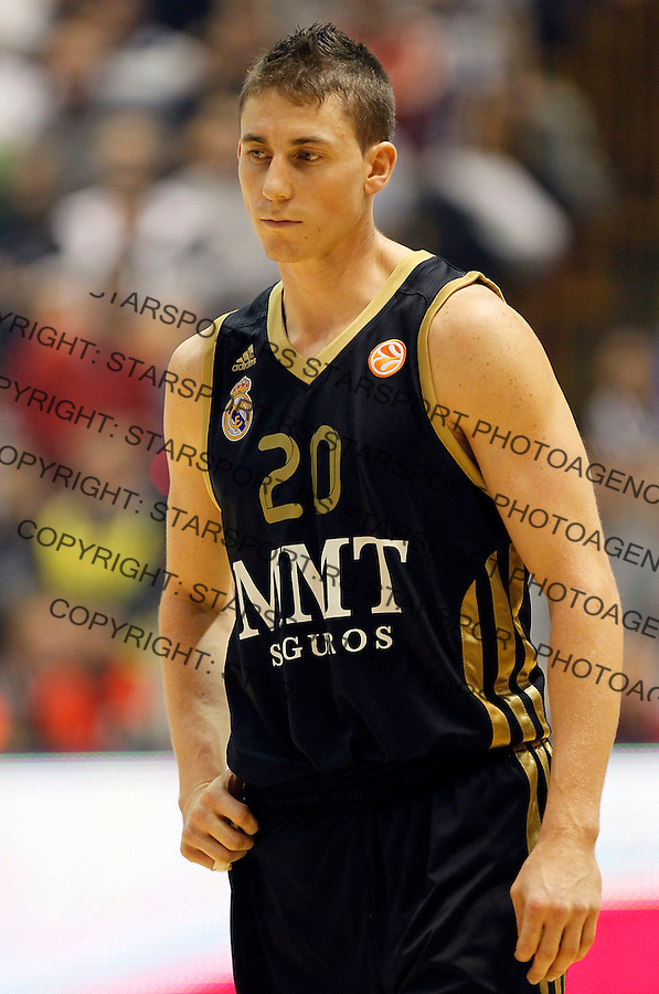 Kosarka, Euroleague, sezona 2011/2012.Partizan Vs. Real Madrid.Jaycee Carroll.Belgrade, 10.11.2011..foto: Srdjan Stevanovic/Starsportphoto ©