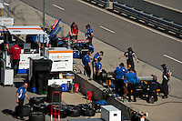 20-21 Febuary, 2012 Birmingham, Alabama USA.Ganassi cars No.38 and No.83 on pit lane.(c)2012 Scott LePage  LAT Photo USA