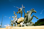Caribbean, Puerto Rico, old San Juan, Races sculpture, Photo: crudaw101  .Photo Copyright: Lee Foster, (510) 549-2202, lee@fostertravel.com, www.fostertravel.com