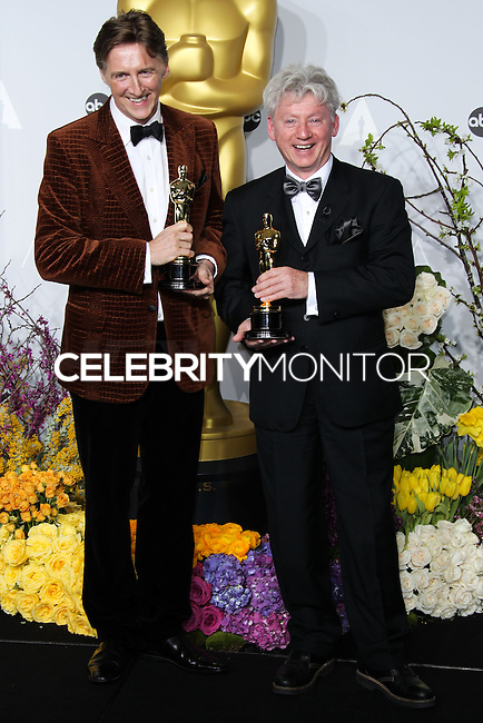 HOLLYWOOD, LOS ANGELES, CA, USA - MARCH 02: Nicholas Reed, Malcolm Clarke at the 86th Annual Academy Awards - Press Room held at Dolby Theatre on March 2, 2014 in Hollywood, Los Angeles, California, United States. (Photo by Xavier Collin/Celebrity Monitor)
