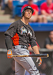 9 March 2013: Miami Marlins catcher Kyle Skipworth in action during a Spring Training game against the Washington Nationals at Space Coast Stadium in Viera, Florida. The Nationals edged out the Marlins 8-7 in Grapefruit League play. Mandatory Credit: Ed Wolfstein Photo *** RAW (NEF) Image File Available ***