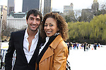 Olympic skater Evan Lysacek & Tamara Tunie at the Figure Skating in Harlem  - the 2011 Skating with the Stars on April 4, 2011 at Wollman Rink, Central Park, New York City, New York. (Photo by Sue Coflin/Max Photos)