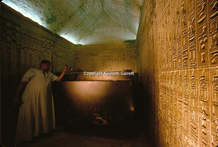 Egypt, Old Kingdom, Pyramid of Unas, tomb chamber, Saqqara