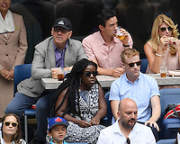 FLUSHING NY- SEPTEMBER 03: Kevin Spacey and  Uzo Aruba are sighted watching Serena Williams Vs Johanna Larssonon Arthur Ashe Stadium at the USTA Billie Jean King National Tennis Center on September 3, 2016 in Flushing Queens. Credit: mpi04/MediaPunch