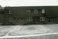 1990 July ..Assisted Housing..Oakleaf Forest..Oakleaf Forest B&W Study:.Head on shots of typical 1&2 story cottages all sides.07/90 HOUSING:Oaklf fr:1 :3 :R1...NEG#.NRHA#..