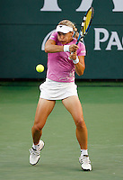15 March 2007: Sybille Bammer (AUT) on the main court at the 2007 Pacific Life Open Tennis Tournament in Indian Wells, CA.