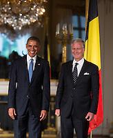 Barack Obama meets with King Philippe of Belgium and Belgian Prime Minister Elio Di Rupo - Belgium