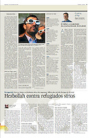 Tearsheet (Feature story) of &quot;Hezbollah contra refugiados Sirios&quot; published in Expresso