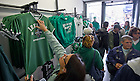 Aug. 31, 2012; Notre Dame fans shop for souvenirs at a shop on Grafton Street in Dublin...Photo by Matt Cashore/University of Notre Dame
