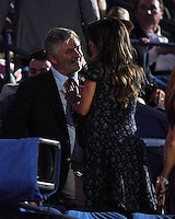 FLUSHING NY- AUGUST 29: Alec Baldwin and Hilaria Baldwin are seen during opening night ceremony on Arthur Ashe Stadium at the USTA Billie Jean King National Tennis Center on August 29, 2016 in Flushing Queens. Credit: mpi04/MediaPunch