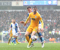 Preston North End's Paul Gallagher and Blackburn Rovers' Sam Gallagher<br /> <br /> Photographer Rachel Holborn/CameraSport<br /> <br /> The EFL Sky Bet Championship - Blackburn Rovers v Preston North End - Saturday 18th March 2017 - Ewood Park - Blackburn<br /> <br /> World Copyright &copy; 2017 CameraSport. All rights reserved. 43 Linden Ave. Countesthorpe. Leicester. England. LE8 5PG - Tel: +44 (0) 116 277 4147 - admin@camerasport.com - www.camerasport.com