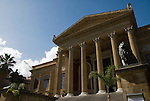 Teatro Massimo on Piazza Giuseppe Verde Palermo Sicily Italy, Front view