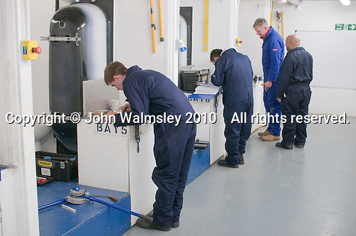 Plumbing students in the workshop, Able Skills, Dartford, Kent.