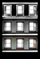 Windows in Dorflinger Office, White Mills, PA