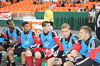 Julius James #2 Andy Najar #14 Andrew Quinn#48, Danny Allsopp #9 and Adam Cristman #7 of D.C. United during an MLS match against the New England Revolution on April 3 2010, at RFK Stadium in Washington D.C.