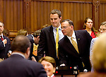 HARTFORD, CT- 03 JANUARY 07- 010307JT13-<br /> State Rep. Sean Williams, R-Watertown, and State Rep. Kevin DelGobbo, R-Naugatuck, on the opening day of the General Assembly's 2007 session at the Capitol in Hartford.<br /> Josalee Thrift Republican-American