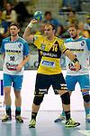 GER - Mannheim, Germany, September 23: During the DKB Handball Bundesliga match between Rhein-Neckar Loewen (yellow) and TVB 1898 Stuttgart (white) on September 23, 2015 at SAP Arena in Mannheim, Germany.  Rafael Baena Gonzalez #16 of Rhein-Neckar Loewen<br /> <br /> Foto &copy; PIX-Sportfotos *** Foto ist honorarpflichtig! *** Auf Anfrage in hoeherer Qualitaet/Aufloesung. Belegexemplar erbeten. Veroeffentlichung ausschliesslich fuer journalistisch-publizistische Zwecke. For editorial use only.