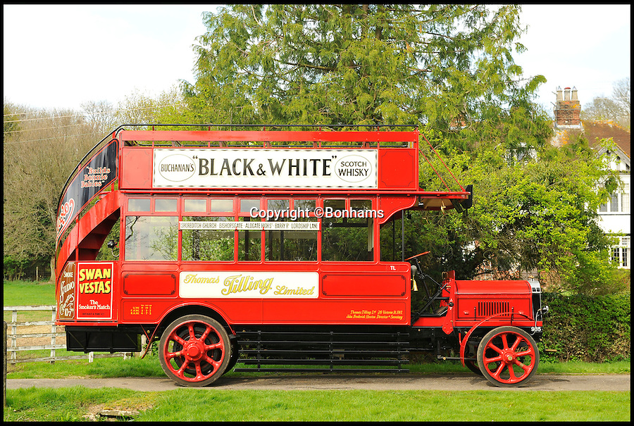 BNPS.co.uk (01202 558833)<br /> Pic: Bonhams/BNPS<br /> <br /> ***Please use full byline***<br /> <br /> Just the ticket -  1920's 'Boris Bus' sells for twice its estimate.<br /> <br /> A last surviving petrol electric hybrid London bus from the 1920's has revealed that Eco technology has been around for a lot longer than most people think.<br /> <br /> The world's first environmentally friendly bus, that was built almost 100 years ago, has sold for &pound;216,000<br /> <br /> The vintage vehicle uses similar technology to the Boris bus in London today, except it was actually made in 1922.<br /> <br /> The bright red double decker has a petrol engine which charges up the electric motor that then powers the bus.<br /> <br /> It is far more eco-friendly than an average petrol automobile of the time, because it constantly ran on the electric without the need to increase revs.<br /> <br /> A journey would have cost customers between one and two pennies each for an off-peak trip in the middle of the day.<br /> <br /> The rare bus was created by Tilling-Stevens and is one of the last surviving vehicles with solid tyres and the only one of its kind in existance today.<br /> <br /> This bus was discovered in a scrap yard by Michael Banfield, a car and coach enthusiast, and he spent many years restoring it to its former glory before his death last year.<br /> <br /> It has now been auctioned at a Bonhams sale in Maidstone, Kent.