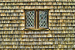 Single window on one side of Nantucket's supposed oldest house. Nantucket, Massachusetts. HDR