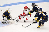 Kasey Martin (Windsor - 20), Shannon Mahoney (BU - 14), Kayla Dodson (Windsor - 12), Julie Hamilton (Windsor - 4) - The Boston University Terriers defeated the visiting University of Windsor Lancers 4-1 in a Saturday afternoon, September 25, 2010, exhibition game at Walter Brown Arena in Boston, MA.