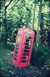 Old phone box in the village of Brome &amp; Oakley in Suffolk, England.