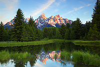 Daybreak at Shwabackers Landing, Grand Teton National Park