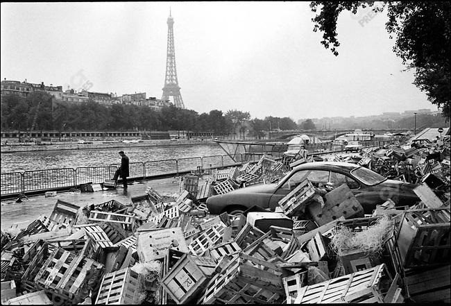 The May 68 events: Quai de la Conference, Paris, France, May 23, 1968