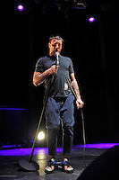 LONDON, ENGLAND - NOVEMBER 10: Jason Williamson of 'Sleaford Mods' performing at Camden Roundhouse on November 10, 2016 in London, England.<br /> CAP/MAR<br /> &copy;MAR/Capital Pictures /MediaPunch ***NORTH AND SOUTH AMERICAS ONLY***