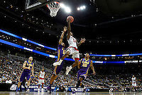 PITTSBURGH, PA - MARCH 19:  Anthony Barber #12 of the North Carolina State Wolfpack shoots the ball against the LSU Tigers during the second round of the 2015 NCAA Men's Basketball Tournament at Consol Energy Center on March 19, 2015 in Pittsburgh, Pennsylvania.  (Photo by Jared Wickerham/Getty Images)