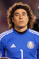 Guillermo 'Memo' Ochoa (1) goalkeeper of Mexico national team. The national teams of Mexico and Venezuela played to a 1-1 draw in an International friendly match at  Qualcomm stadium in San Diego, California on  March 29, 2011...