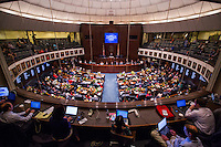 TALLAHASSEE, FLA. 3/3/15-The view of the Florida Senate from the press gallery during the opening day of the 2015 Legislative Session Tuesday at the Capitol in Tallahassee.<br /> <br /> COLIN HACKLEY PHOTO