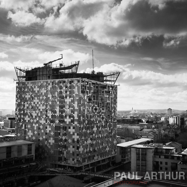 The Cube under construction