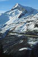Switzerland. State of Ticino. Airolo. The road to the Saint Gotthard pass is closed for the winter season.© 2005 Didier Ruef
